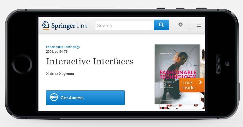 iPhone-View on new SpringerLink-Website