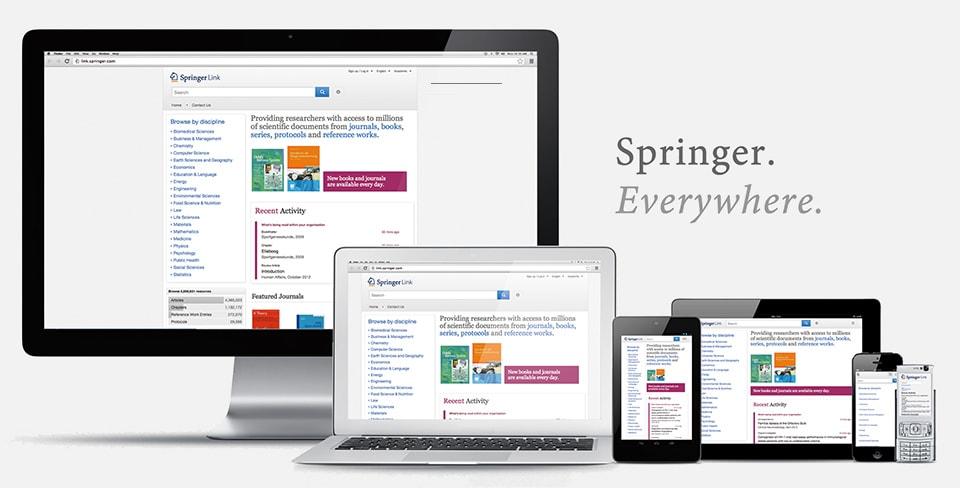 Springer Everywhere. Springer Website on multiple devices